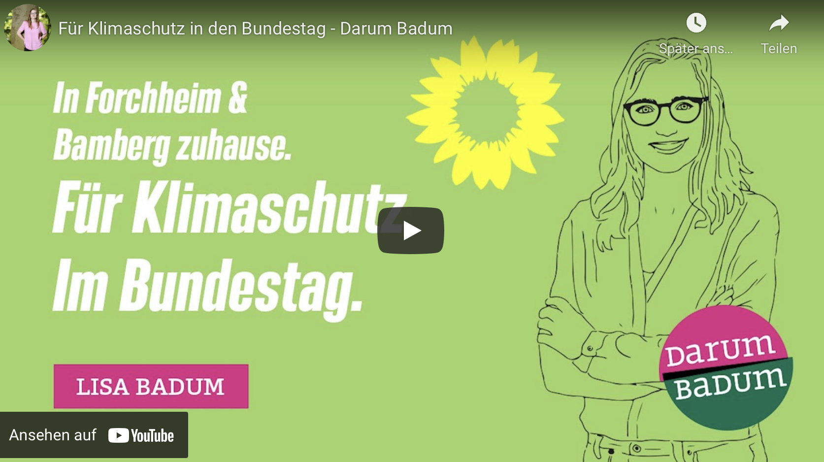 Für Klimaschutz wieder in den Bundestag